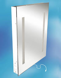 Bathroom Cabinet With Lights And Mirror by Bathroom Chrome Rectangle Resin Cabinet With Mirror And Light