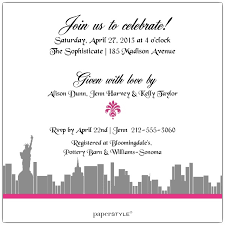 enchanted city american bridal shower invitations paperstyle