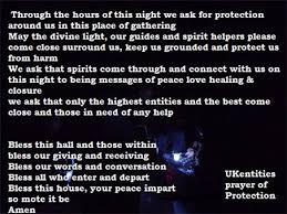 white light protection prayer uk entities opening and closing prayers