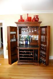 Bernhardt Bar Cabinet Upcycled Repurposed Armoire Converted Into A Dry Bar Liquor