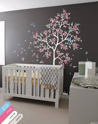 wall stickers murals nursery wall tree decal mural with leaves butterflies decor