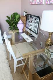 Home Office Glass Desks Glass And Wood Office Desk Best Fireplace Concept New At Glass And
