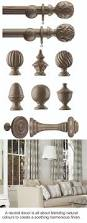 Wood Curtain Rings Unfinished by Best 25 Wooden Curtain Poles Ideas On Pinterest Curtain Pole