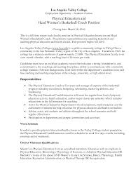 ideas collection cover letter for pe teacher job application for