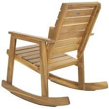 Indoor Outdoor Rocking Chair Amazon Com Safavieh Outdoor Collection Alexei Natural Brown