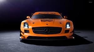 mercedes amg orange front view of an orange mercedes sls amg wallpaper car