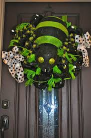 Halloween Wreath Ideas Front Door 210 Best Halloween Mesh Wreaths Images On Pinterest Holiday