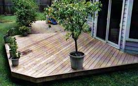 decoration in wood deck patio ideas simple backyard patio