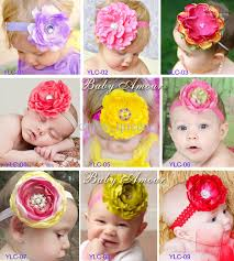 big flower headbands new design baby headbands big flower inlay hair bands girl