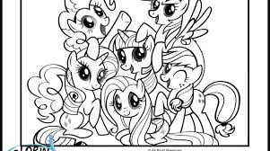 25 inspiring my little pony friendship is magic coloring pages