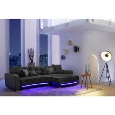 sofa mit beleuchtung wohnlandschaft laredo schwarz mit led beleuchtung und soundsystem