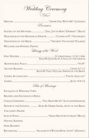 wedding ceremony bulletin catholic wedding ceremony program template i like the you raise me