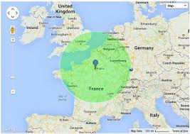 draw a radius on a map radius around a point on a map