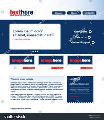 modern website template red blue home stock vector 105304160