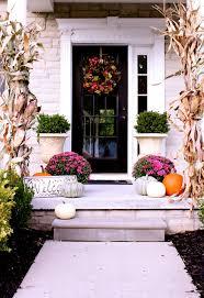 fall thanksgiving fall porch wrap corn husks around columns