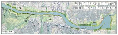 Austin Bike Map by The Trail Foundation Butler Trail Ecological Restoration The