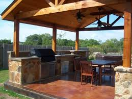 simple strategies to design outdoor kitchen designs plans nytexas modern mounted ceiling fans with comfortable wooden furniture set for perfect outdoor kitchen designs plans with stone floor tiles
