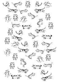 little cats animals coloring pages for adults justcolor