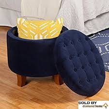 Navy Blue Storage Ottoman Navy Blue Ottoman With Legs This Large