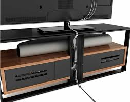 Tv Stand With Back Panel Bdi Sonda Black And Walnut Tv Stand