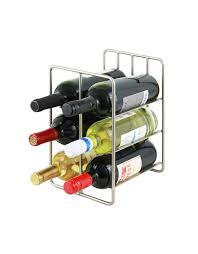 metal wine racks in wrought iron chrome and aluminum