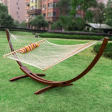 Hammock Chair And Stand Combo Hammocks 12feet Wood Arc Hammock Stand And Hammock Combo Cotton