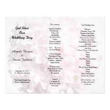 tri fold wedding programs tri fold wedding programs gifts on zazzle