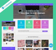 web template psd free download layered psd file you can easily