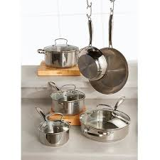 Bed And Bath Bath Accessories Shopko by Gourmet Living 10pc Stainless Steel Cookware Set Shopko