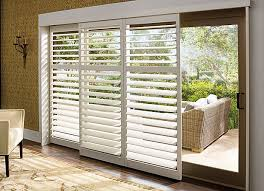 Wood Sliding Glass Patio Doors White Wood Sliding Glass Door Shutters Window Treatments