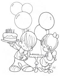 birthday coloring pages party and birthday cake coloring page