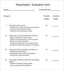 feedback on presentation template presentation feedback form