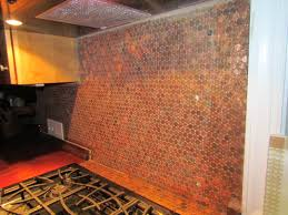 cosy penny backsplash model in home interior redesign with penny