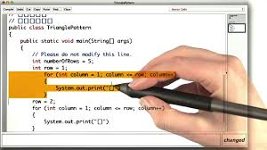 java pattern programs for class 10 triangle pattern intro to java programming youtube