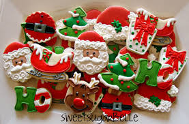 decorated christmas cookies ideas for decorating santa cookies can make moustaches with royal