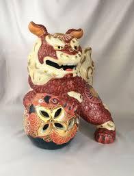gold foo dogs porcelain turquoise foo dog statue set asian ceramic feng