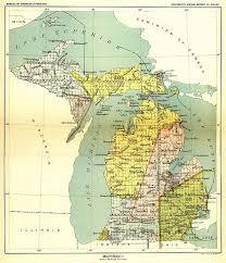 peninsula michigan map northern michigan