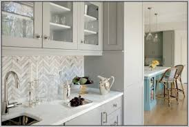 White Gray Marble Mosaic Tile Backsplash Tiles  Home Decorating - Carrara backsplash