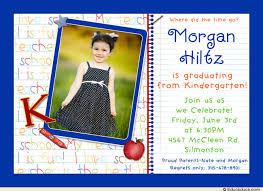 kindergarten graduation announcements photo kindergarten graduation invitation pre k elementary on