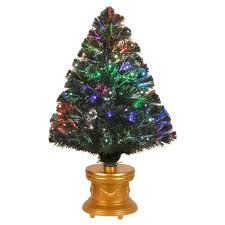 5 ft fiber optic evergreen led tree with 16 in stand