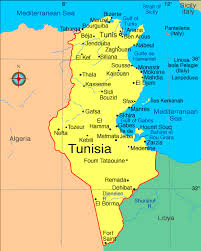 map of tunisia with cities of tunisia