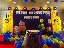 minion birthday party ideas minion themed party in bangalore birthday party ideas featuring