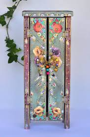 Mexican Style Home Decor Boho Wooden Standing Cabinet Mexican Cottage By Oliviabydesign