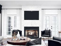 Best Fireplaces Images On Pinterest Fireplaces Living - Black and white family room