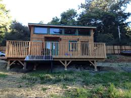 Tiny House Deck by Unique Off Grid Tiny House With Ocean Views Real Tiny Estate