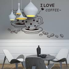 aliexpress com buy i love coffee wall papers home decor wall