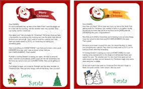 letters from santa claus free printable letter from santa claus template template free