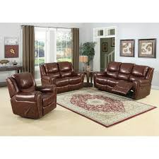 Leather Sofa Sets Abbyson Grand Chesterfield Brown Top Grain Leather Sofa Set
