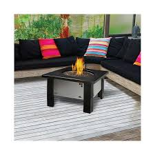 stylish glass coffee table with iron frames and center burner
