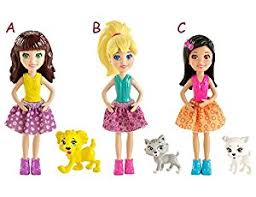 amazon polly pocket doll u0026 animals bcy85 1 doll 1